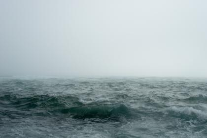 nature, water, ocean, sea, surface,  waves, ripples, fog
