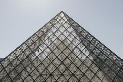 architecture, building, modern, art, structure, lines, linear, shapes, patterns, perspective, sky, musee du louvre, louvre, museum, paris, france, europe