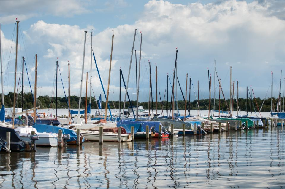 marina, boats, docks, lake, water, Groningen