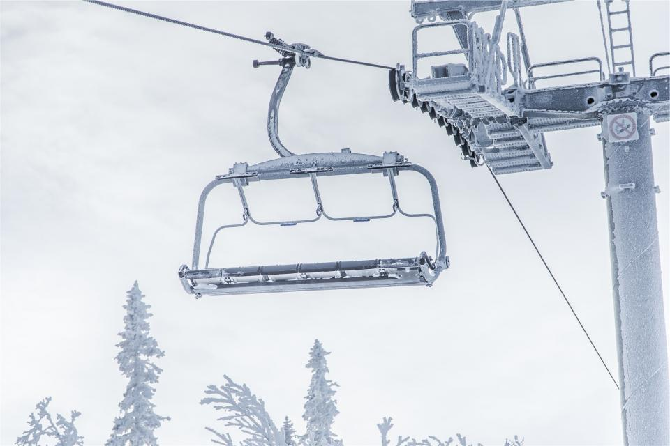 chairlift, winter, snow, ice, frost, cold, cloudy, snowboarding, skiing