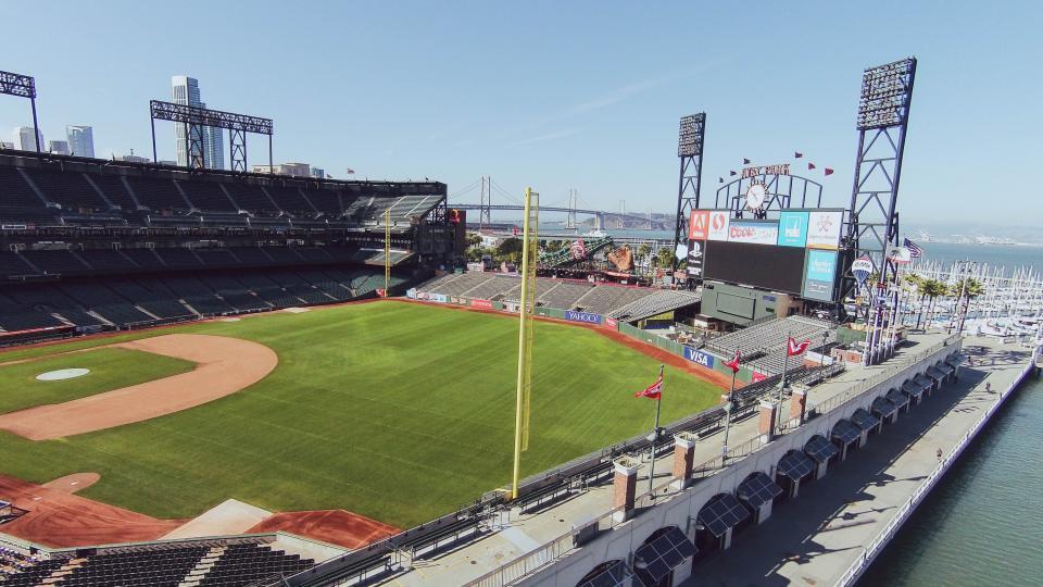 AT&T Park, baseball, stadium, sports, field, diamond, sunny, San Francisco