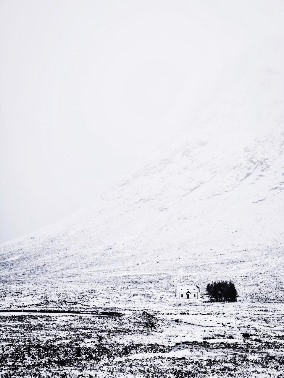 snow, winter, cold, landscape, nature, sky