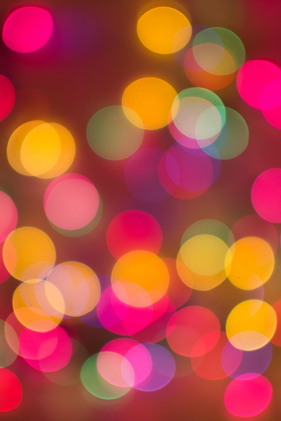 abstract, blurry, lights, bokeh, colors, colours, Christmas