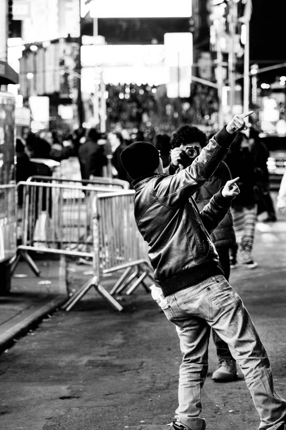 NYC, New York City, streets, people, crowd, busy, photographer, photography, black and white
