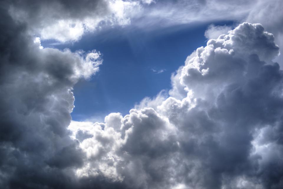 blue, sky, clouds, sunlight