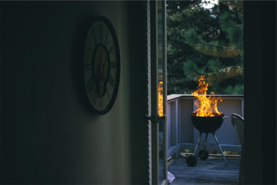 barbecue, bbq, grill, fire, flame, deck, cookout