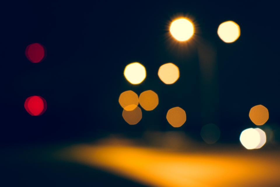 bokeh, lights, dark, night, evening, blurry, abstract