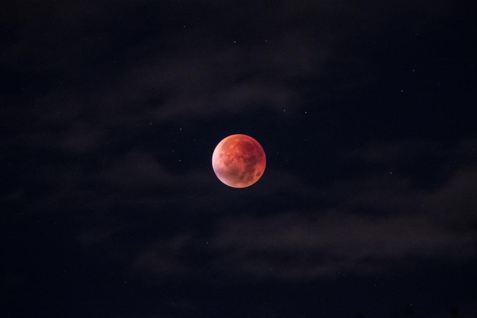 moon, planet, sky, stars, space, galaxy, astronomy, dark, night, evening