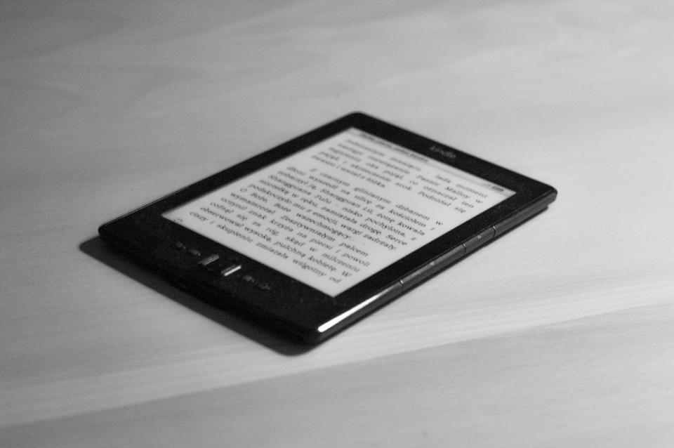 kindle, book, e-reader, reading, technology, objects
