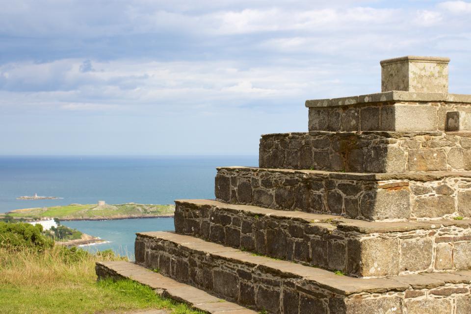 Killiney Hill Park, Pyramid, Dublin, Ireland, coast, ocean, sea, water