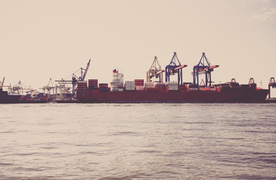 boats, ships, docks, marina, harbor, harbour, pier, cargo, cranes, industrial, transportation, shipping, water