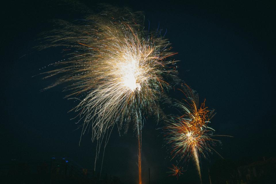 fireworks, lights, night, sky, celebration, party