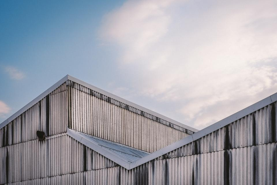 building, structure, siding, paneling, roof, architecture, sky, clouds