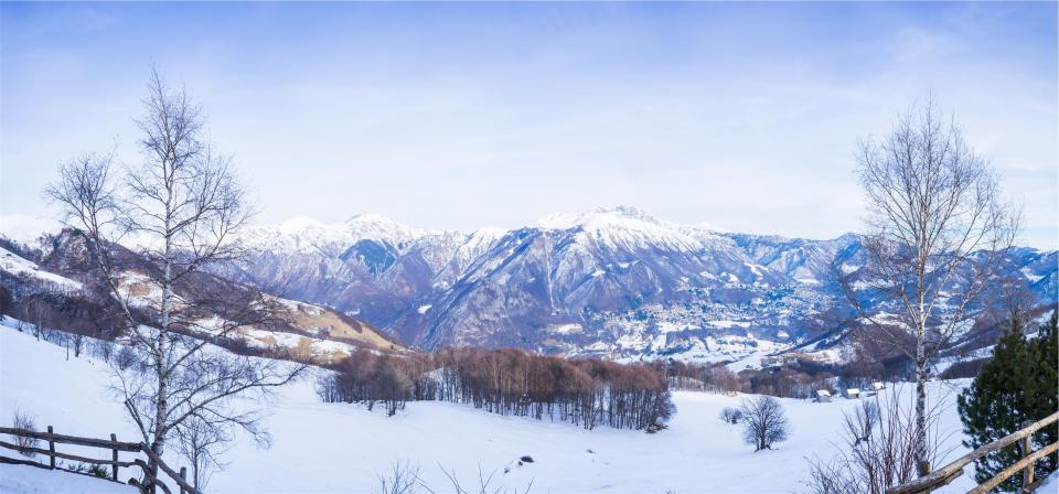 landscape, mountains, nature, winter, snow, cold, hills, rural