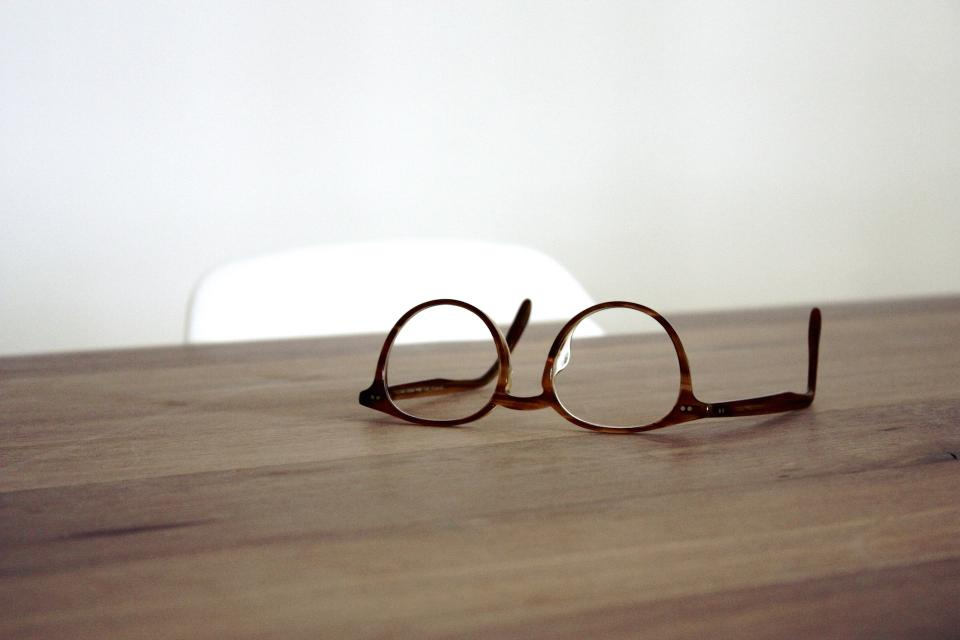 eyeglasses, office, desk, wood, objects, business