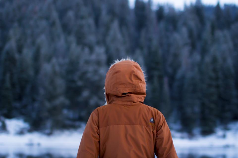 winter, jacket, coat, hood, snow, cold