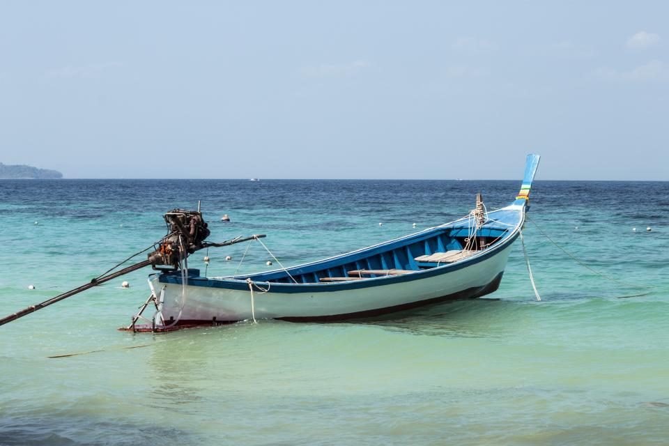 boat, ocean, sea, water, tropical, vacation, summer, sunshine