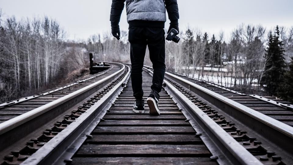 train tracks, people, photographer, photography, camera, outdoors, lifestyle