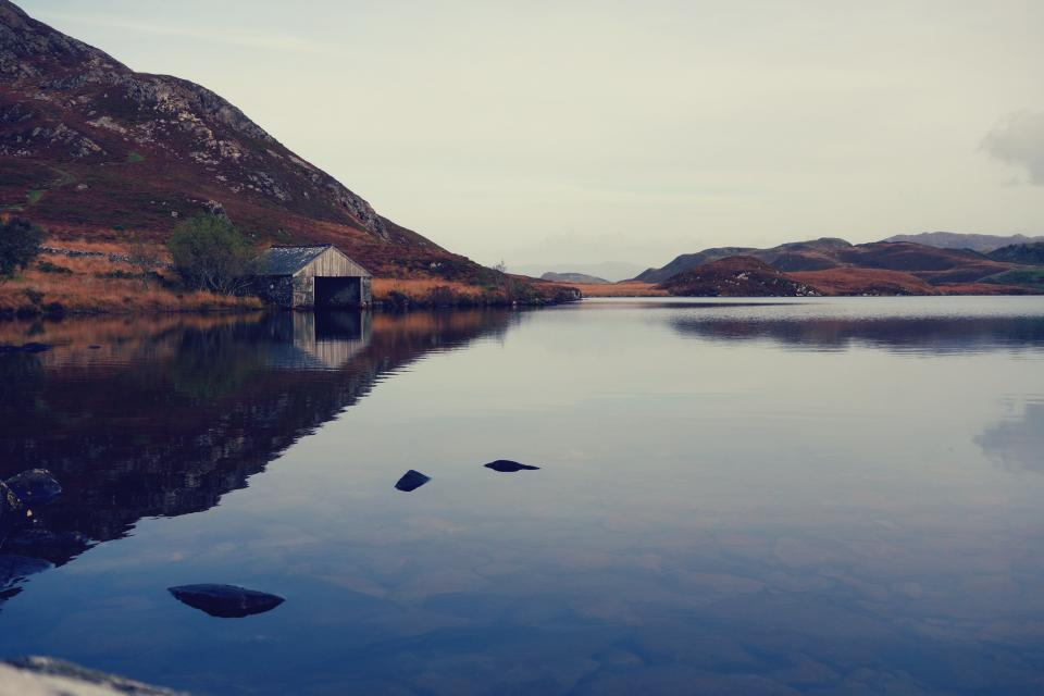 nature, landscape, mountain, coast, lake, sea, water, blue, reflection, sky, horizon