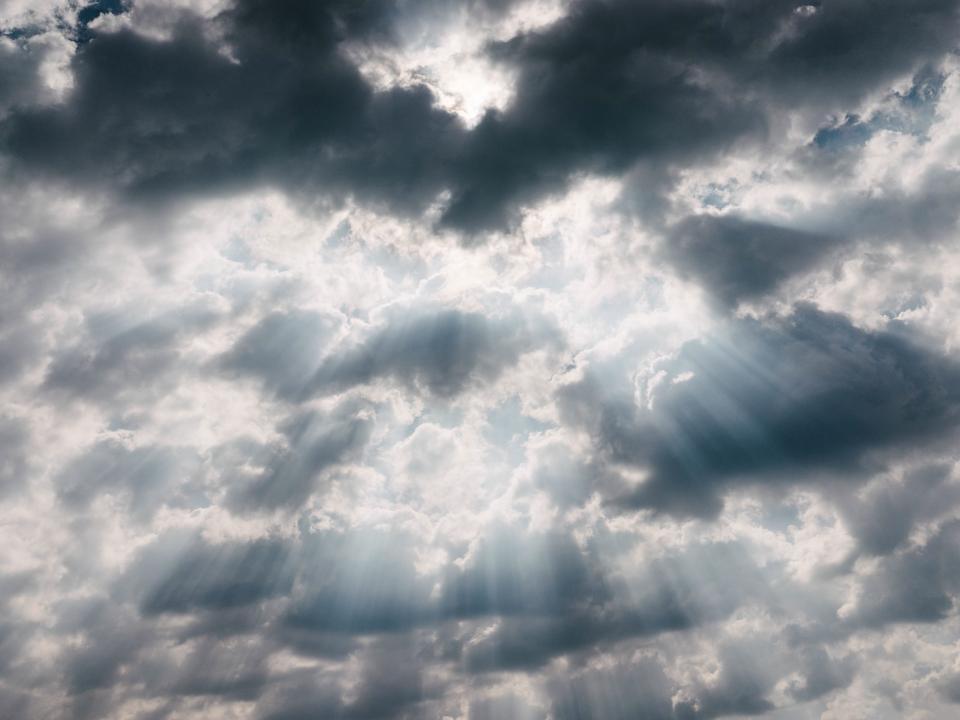 sky, clouds, cloudy, sun rays, sunlight