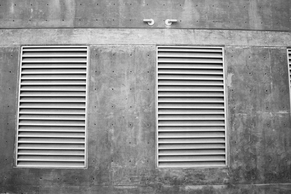 ventilator, concrete, wall