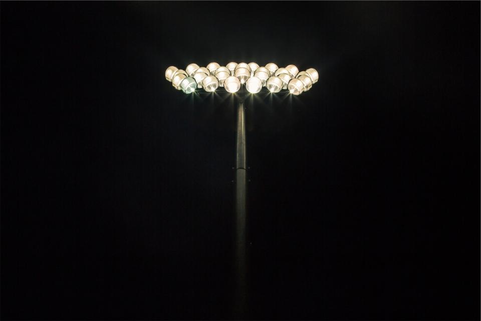 flood lights, stadium lights, dark, night