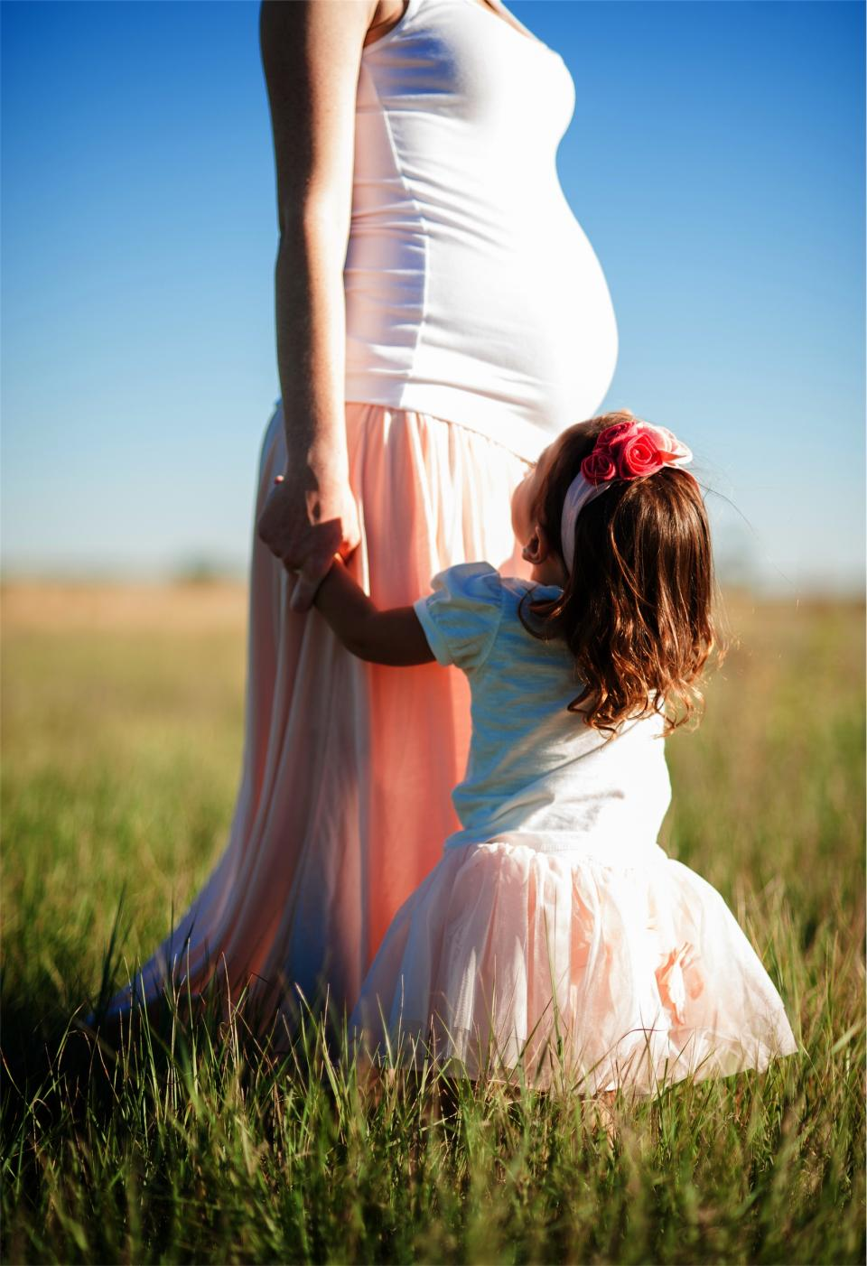 pregnant, mom, mother, woman, daughter, child, young, girl, dress, family, people, baby