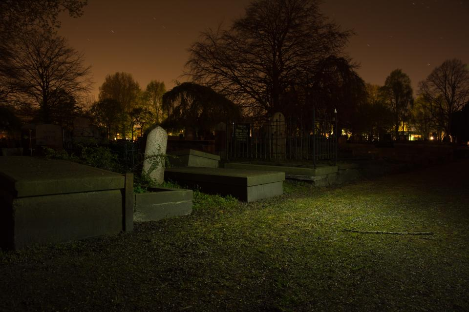 graveyard, cemetery, tombstones, dark, night, death, dead, scary