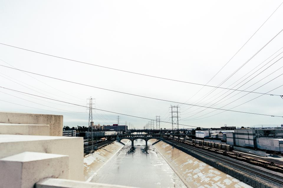 railroad, railway, train tracks, station, transportation, bridge, urban, industrial