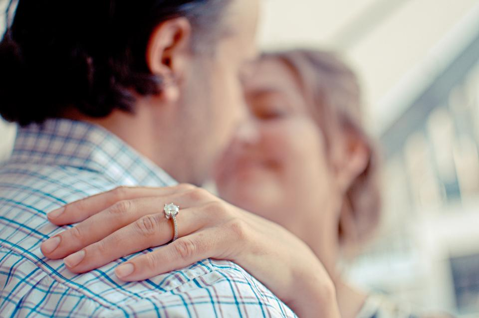 engagement, ring, marriage, couple, love, romance, people, woman, man, kissing