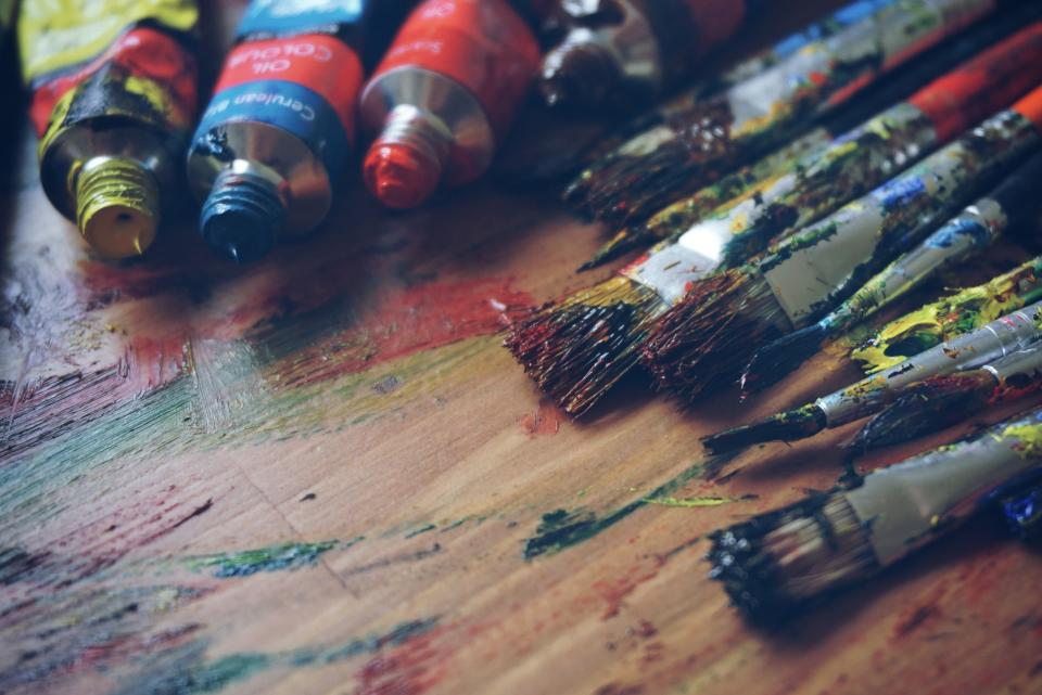 paint, painting, brushes, art, crafts, supplies, creative