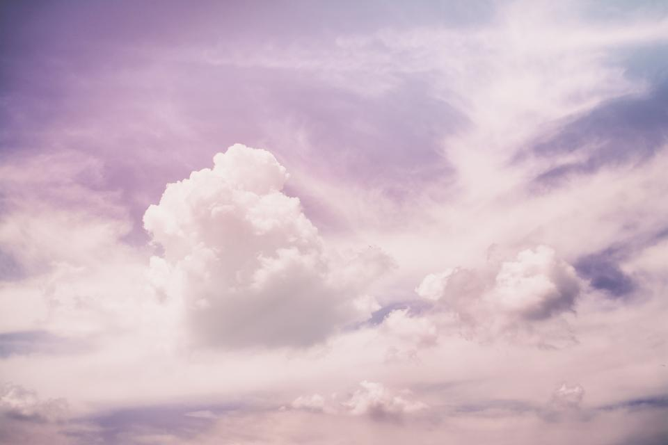 purple, pink, sky, clouds, nature