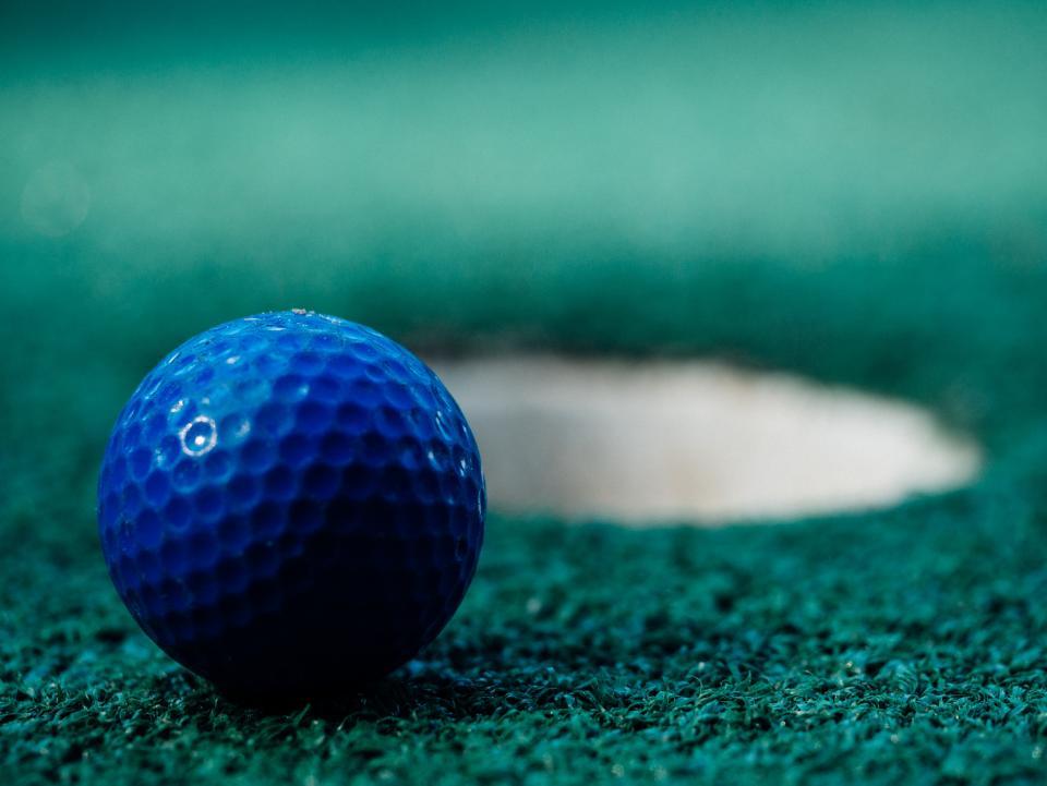 golf, ball, green, sports, fun, blue, hole