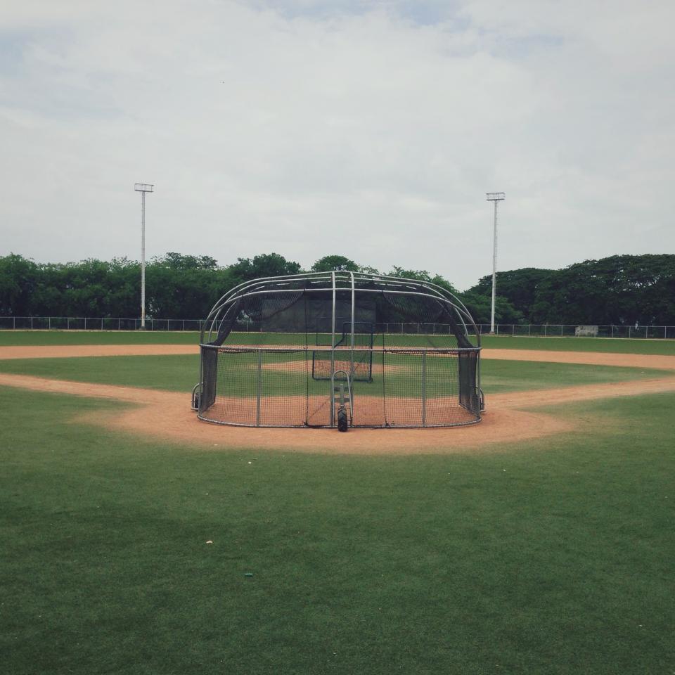 baseball diamond, field, grass, sports