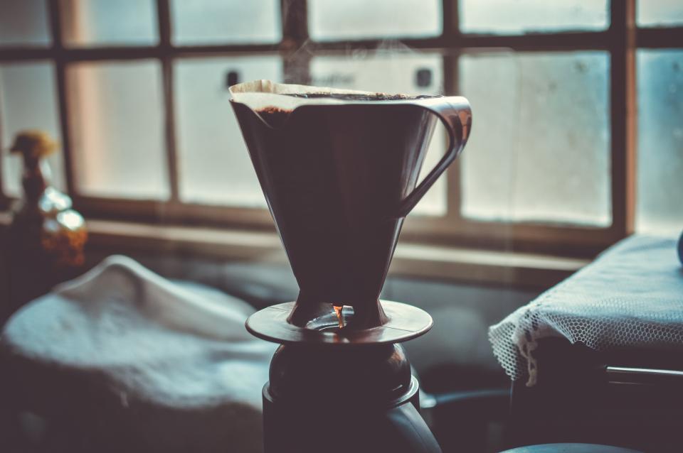 silhouette, coffee, café, kitchen, window, ground coffee, coffee maker, brewed coffee