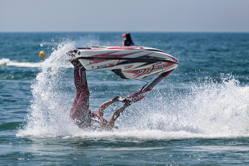 ocean, sea, water, nature, wave, blue, guy, sports, jet ski, ride, trip, sailing, people