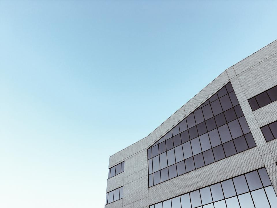 blue, sky, building, windows, architecture, corporate, business