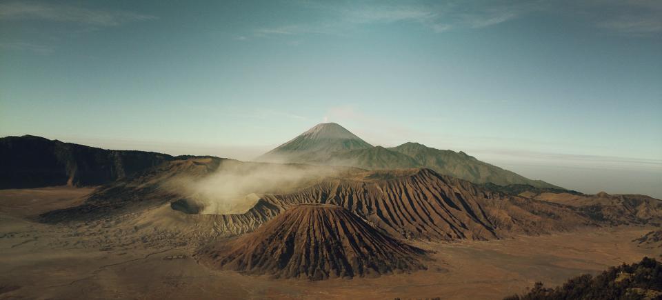 sand dunes, desert, mountains, sky, hills