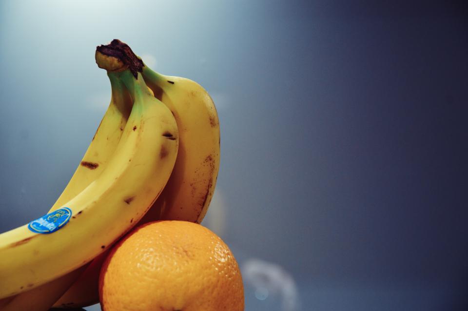bananas, orange, fruits, food, healthy