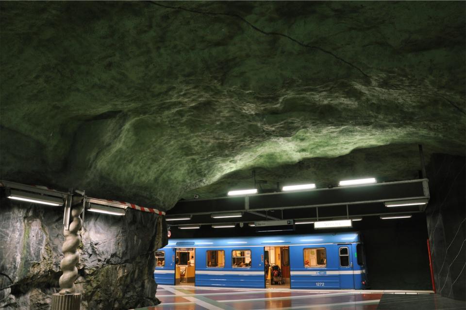 subway, station, train, transportation, underground, ceiling, cave