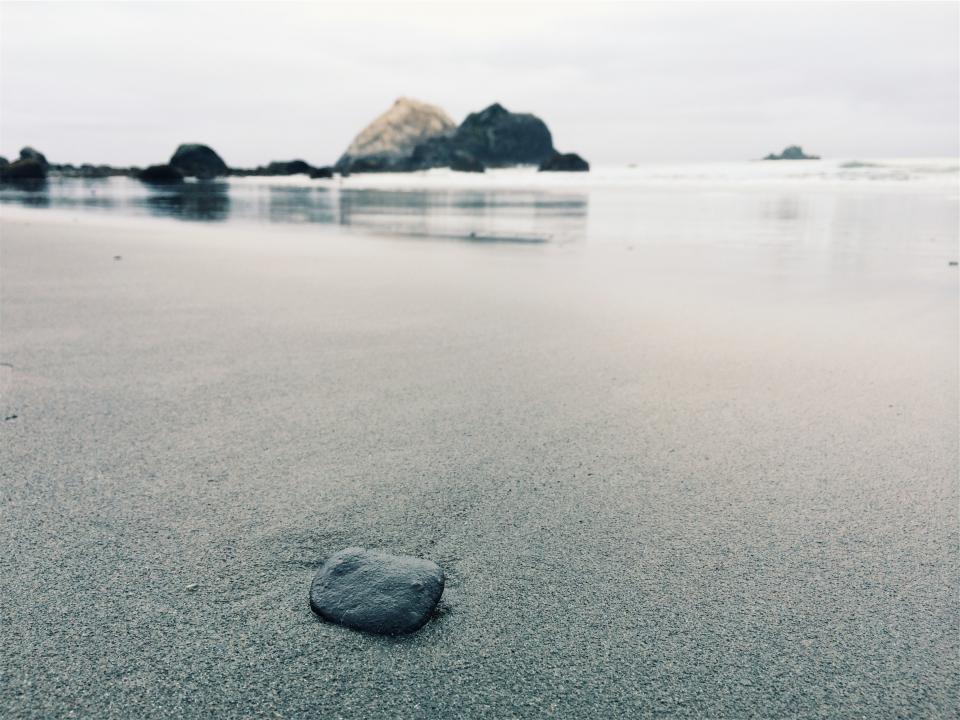 beach, sand, rocks, water, shore