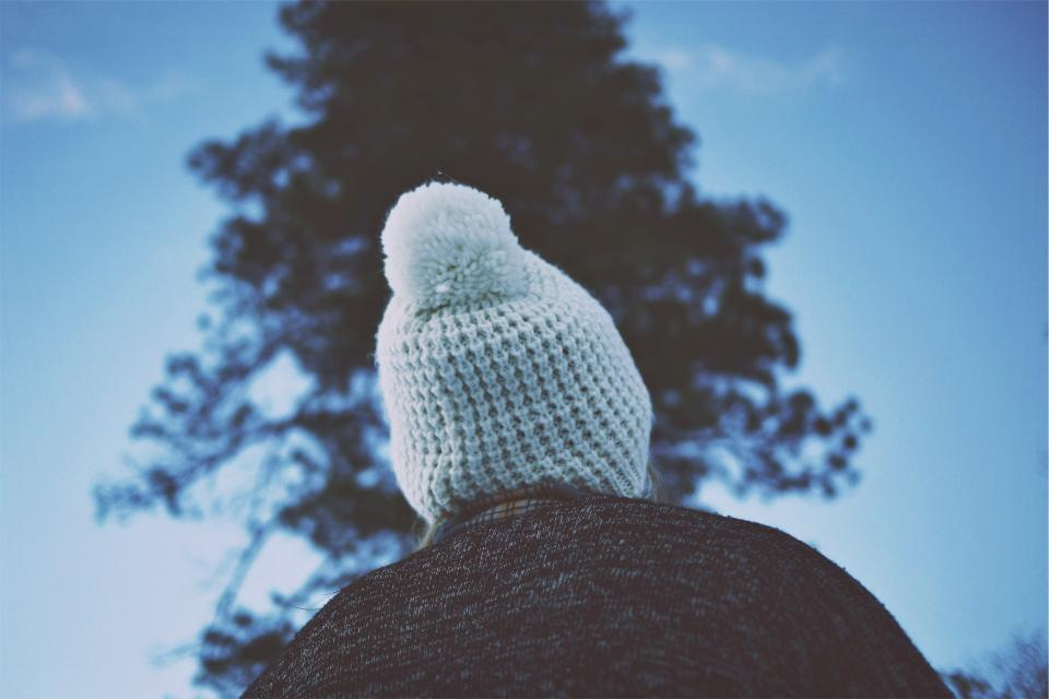 hat, toque, pom pom, winter, cold, people