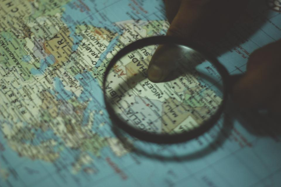 map, magnifying glass, directions, navigation, globe, travel, trip, vacation