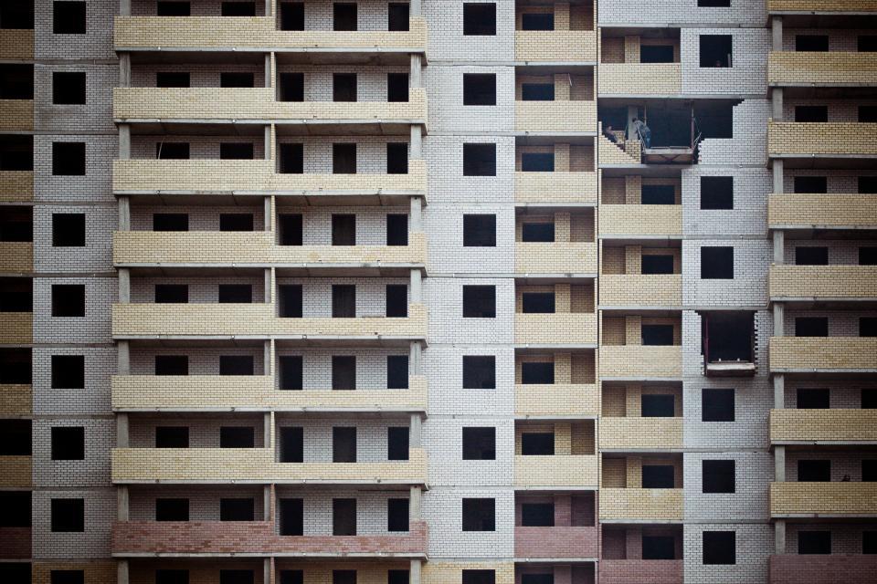 building, urban, architecture, bricks, yellow, apartment, city