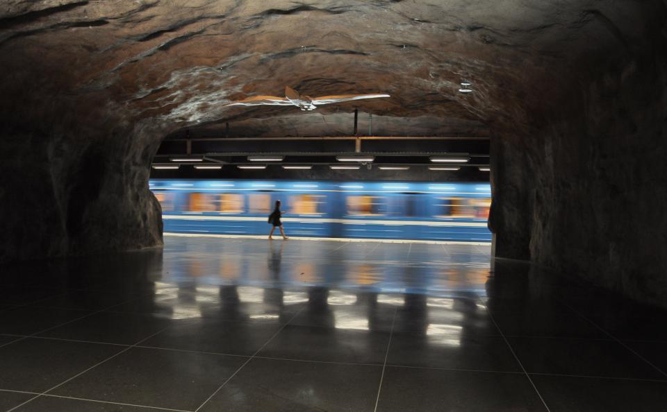 subway, station, train, transportation, underground