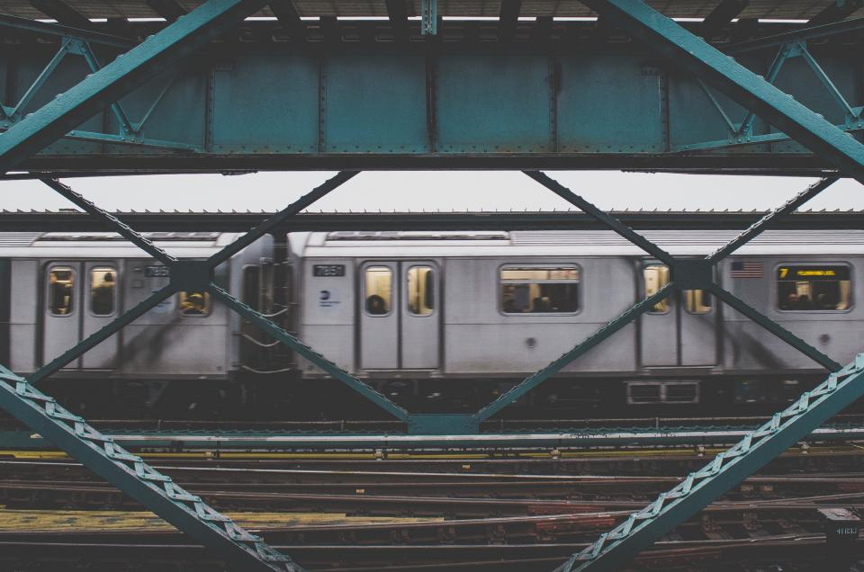 subway, train, tracks, railway, railroad, transportation, urban