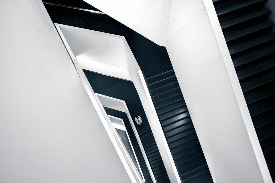 stair case, stairway, steps, stairs, white, black, architecture