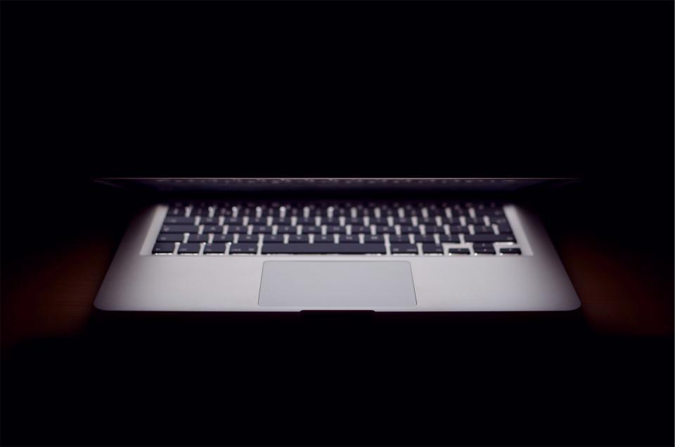 apple, macbook, laptop, shadows, dark, technology, business