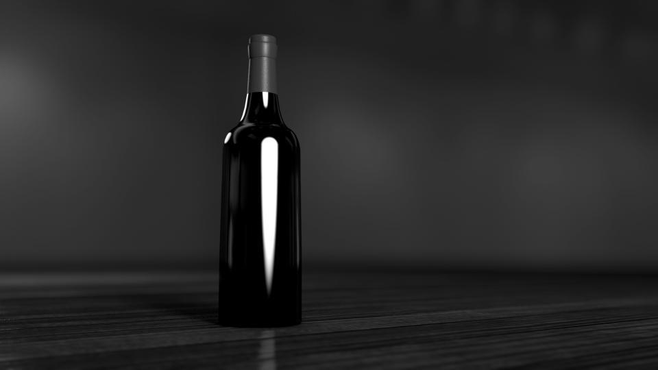 bottle, black, dark