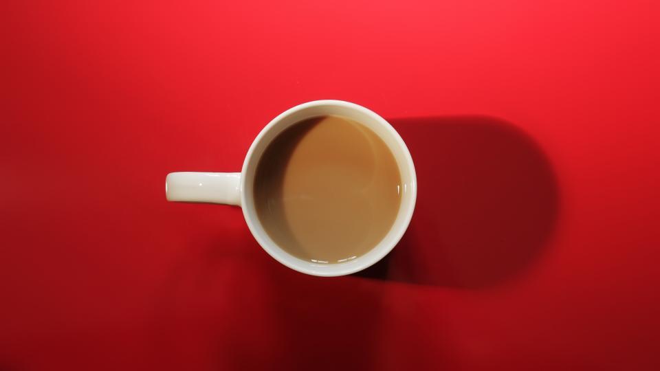 red, coffee, mug, cup